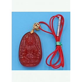 Hình đại diện sản phẩm Vòng cổ phật Bất Động Minh Vương - thạch anh đỏ 3.6cm DOTOB1 - dây dù đỏ - tuổi Dậu