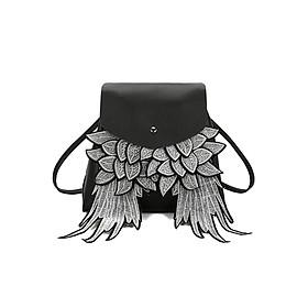 Balo thời trang da thiên thần BERI (đen) - BALO040