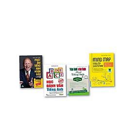 Combo 4 cuốn khóa huấn luyện phát âm tiếng Anh hoàn hảo + vừa lười vừa bận vẫn giỏi tiếng Anh+ học đánh vần tiếng Anh+ mind map English grammar ( tặng sổ tay MC books )
