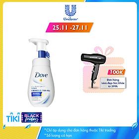Sữa Rửa Mặt Dạng Bọt Dove Tinh Chất - Serum Cấp Ẩm & Cho Da Mềm Mượt 160Ml