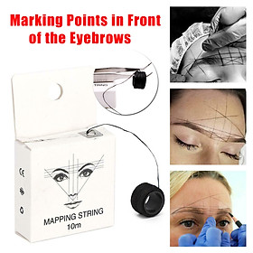 10m Pre Lnked Eyebrow Mapping String Line Eyebrow Marker Box Positioning Tool