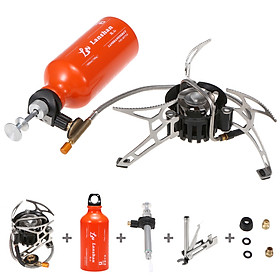 Outdoor Camping Multi Fuel Oil Stove with 500ml Gasoline Fuel Bottle for Diesel Alcohol