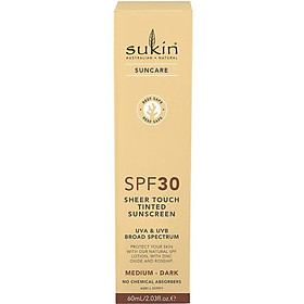 Sukin SPF 30 Tinted Medium/Dark Sunscreen Lotion 60ml