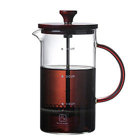 French Press Coffee Maker Stainless Steel Heat Resistant Borosilicate Glass Coffee Plunger Classic French Press