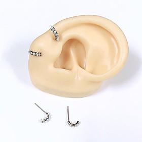 bông tai nạm hạt chuẩn (100% bạc)