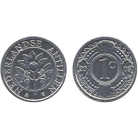 Xu 1 cent Netherdland Altilles sưu tầm