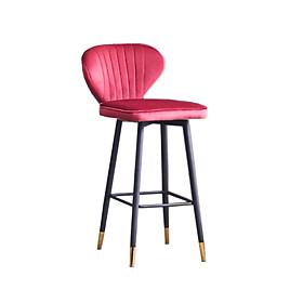 Ghế bar thân xoay vải nhung chân sắt có ống đồng CB Luois Capta