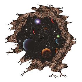 Miếng Dán Sàn Nhà Planets 3D