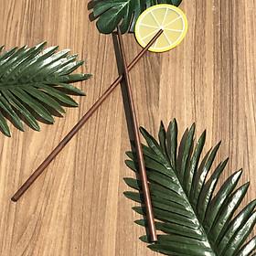 Đũa xào nấu thức ăn DandiHome (đũa cả) gỗ trắc cao cấp, chịu nhiệt tốt, không độc hại khi gặp nhiệt độ cao