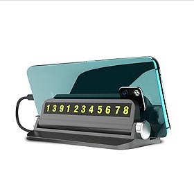 Bảng lưu số mini cho điện thoại đặt, gắn trên taplo mini trên xe hơi siêu tiện lợi, sang trọng cao cấp- Giao màu ngẫu nhiên (Tặng móc khóa tô vít 3in1 đa năng)