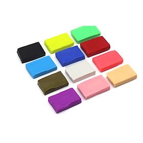 Bộ Đất sét polymer sét 12 màu 1200gr làm đất chơi