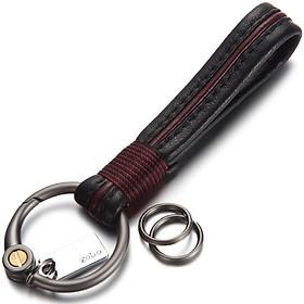 Authentic (zobo) car key chain sheepskin key rope activity key ring car ornaments business gifts birthday gift ZB-930 black