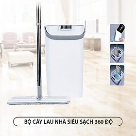 Cây lau nhà siêu sạch MyJae 360 độ, bông lau sợi siêu mảnh, thùng lau 2 ngăn giặt - vắt nhanh, hiệu quả, thiết kế tinh tế, nhỏ gọn, tiện dụng (tặng kèm 1 bông lau)