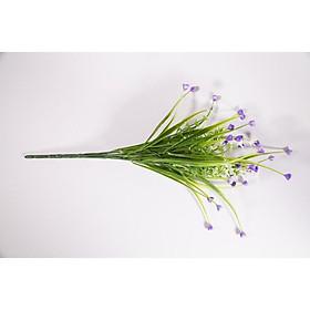 Hoa giả đẹp trang trí nhà cửa chùm hoa Tulip cỏ trắng nhỏ nhiều màu - Cao 35cm bụi 7 cành
