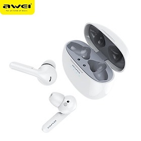 AWEI T15 Mini TWS Bluetooth 5.0 Wireless Earbuds Touch Control For Gaming Headset With Microphone Noise Cancelling Earphones