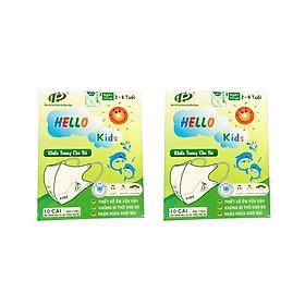 Combo 2 Hộp Khẩu trang 3D Hello Kids cho bé (hộp 10 cái)
