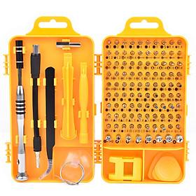 Bộ tua vít đa năng 110 in 1 CRV dụng cụ chuyên sửa chữa tháo lắp điện thoại laptop bỏ túi