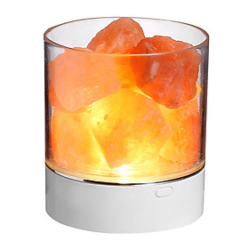 Natural Crystal Himalayan Salt Lamp Multi-color Brightness Adjustable Bedside Table Lamp