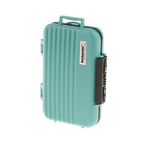 24 Slots Memory Card Case Carrying Holder Storage Box for CF Cards & TF Cards & SD Cards - Green