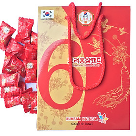Combo 2 hộp kẹo vị hồng sâm Kumsam Hàn Quốc 500g