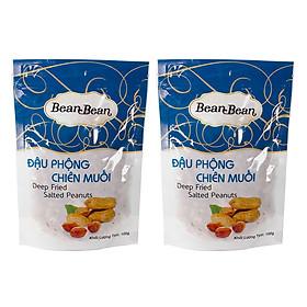 Hình đại diện sản phẩm Combo 2 Gói Đậu Phộng Chiên Muối Bean Bean (100g / Gói)