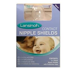 Miếng dán trợ ti Lansinoh 24mm ( 2 miếng/hộp) / Giảm đau đầu ti