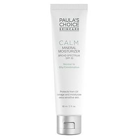Sữa Dưỡng Ẩm Ban Ngày Chống Lão Hóa SPF 30 Paula's Choice Calm Mineral Moisturizer SPF 30 – Oily (60ml)