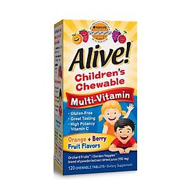 Kẹo Nhai Vitamin Tổng Hợp Trẻ Em Nature's Way Children's Multi Orange & Berry Chewable, 120 Viên