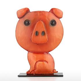 Pig Shaped Eyeglass Rack Glasses Eyewear Holder Animal Shaped Spectacle Display Stand - Red