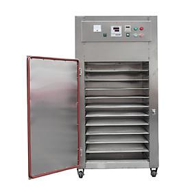Máy sấy công nghiệp 10 khay vuông GE120. Sấy nhanh gấp 10 lần phơi nắng, tiết kiệm điện, cách âm, cách nhiệt, dễ sử dụng. Hàng nhập khẩu chính hãng SGE Thailand