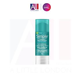 Thanh lăn rửa mặt cho da dầu Simple Daily Skin Detox Charcoal Cleansing Stick - 45g