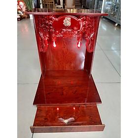 Bàn thờ Thần Tài Ông Địa giá rẻ đẹp gỗ Ép ngang 36 cao 48 , Mã sản phẩm E01- Đồ Thờ Thắng Duyên Đại Phát