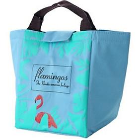 Túi đựng cơm, túi đựng thức ăn hình cò Flamingo có lớp giấy bạc giữ nhiệt tốt