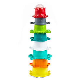 Bộ 7 cốc xếp chồng kết hợp đồ chơi tắm tôm hùm và những người bạn Infantino 205039