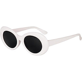 Retro Clout Goggles Glasses Oval Bold Mod Thick Framed Sunglasses