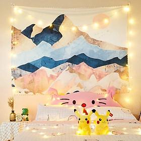Thảm treo tường trang trí phòng ngủ Tranh vải vintage 150x130CM - THIÊN NHIÊN ( TẶNG MÓC )