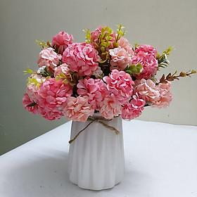 Hoa giả, lọ hoa cẩm tú cầu để bàn trang trí phòng khách, cửa hàng, quán cà phê, bàn làm việc, phòng họp sang trọng