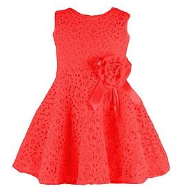 Fashion Girl Little Princess Sleeveless Floral Lace Wedding Party Mini Dress