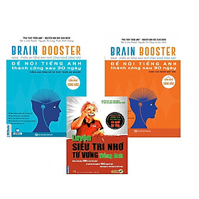 Combo Sách Brain Booster - Nghe - Phản Xạ Tiếng Anh Nhờ Công Nghệ Sóng Não (Tặng bookmark độc đáo CR)