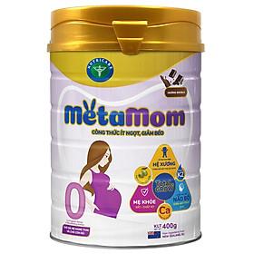 Sữa bột Nutricare MetaMom ít ngọt giảm béo chăm sóc toàn diện cho mẹ bầu & cho con bú (400g)