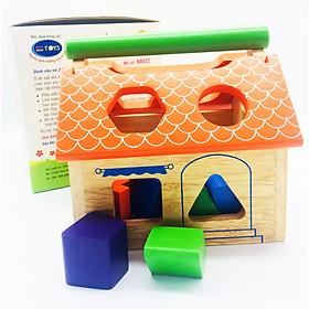 Đồ chơi gỗ - Nhà thả hình bằng gỗ cho bé trên 1 tuổi