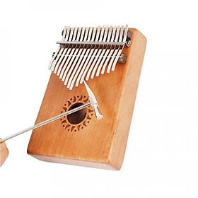 Đàn Kalimba gỗ mahogany 17 phím chuẩn thumb piano kèm đủ phụ kiện (Búa chỉnh âm, dán nốt, túi đựng, sách hướng dẫn)