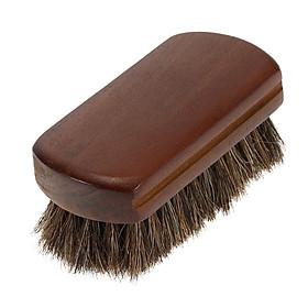 Men's Beard Brush Natural Horse Hair Mustache Shaving Brush Facial Hair Brush Wooden Handle