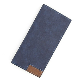 Ví da cầm tay nam nữ dáng dài da cao cấp chống nước, ví dáng ngang có nhiều ngăn đựng thẻ, có khóa bấm chắc chắn.