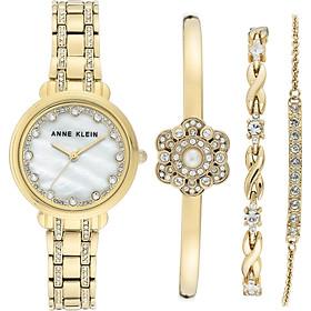 Bộ đồng hồ và vòng tay ANNE KLEIN 3488GPST