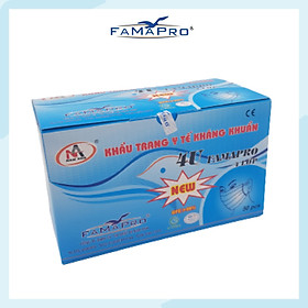 Khẩu trang y tế 4 lớp kháng khuẩn Famapro 4U (50 cái/ hộp )