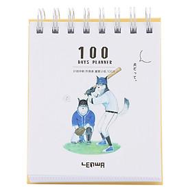 Sổ Kế Hoạch Lò Xo 100 Ngày - 100 Days Daily Planner Notebooks - Thể Thao 3 (10.6 x 12.4 cm)