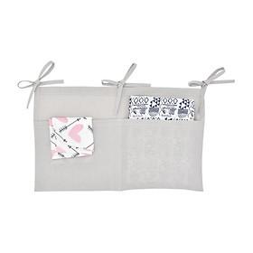 Newborn Baby Crib Hanging Bag Baby Diaper Infant Toy Diaper Pocket Bedding Set Multi-Function Storage Bag Organizer
