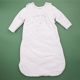 Túi ngủ thỏ trắng có thể tháo rời tay cho bé