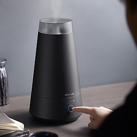 Bear humidifier bedroom silent 2 liters capacity mini aroma diffuser touch type triple purification humidifier JSQ-B20H1 transparent matte black version